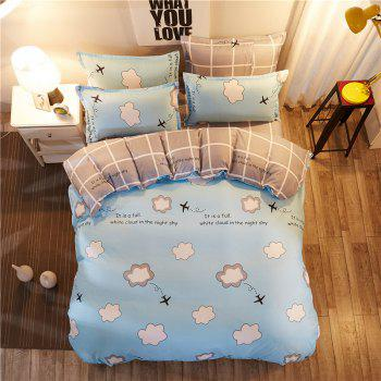Dyy 4PCS Fashion Design Bedding Set Pillowcase Bed Sheet Quilt Cover Y2017.1.5