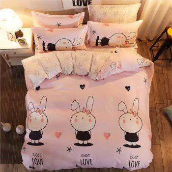 Dyy 4PCS Fashion Design Bedding Set Pillowcase Bed Sheet Quilt Cover Y2017.1.8