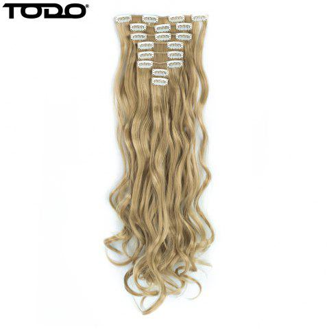 TODO 24inch Wig Curly Single Style 8-piece 18-clip Hair Extensions - BLONDE MIXED 613/27 24INCH