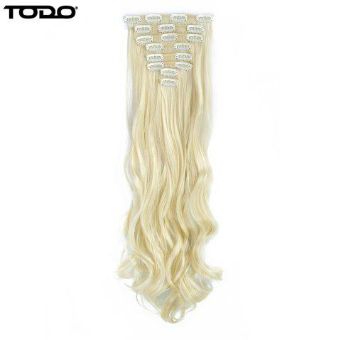 TODO 24inch Wig Curly Single Style 8-piece 18-clip Hair Extensions - BLONDE 613 24INCH