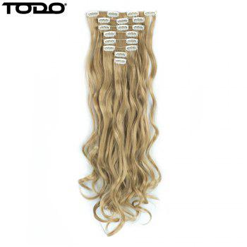 TODO 24inch Wig Curly Single Style 8-piece 18-clip Hair Extensions