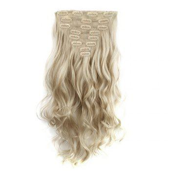 TODO 24inch Wig Curly Single Style 8-piece 18-clip Hair Extensions - BLONDE MIXED / 24INCH