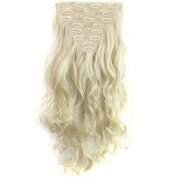 TODO 24inch Wig Curly Single Style 8-piece 18-clip Hair Extensions - BLONDE 24INCH