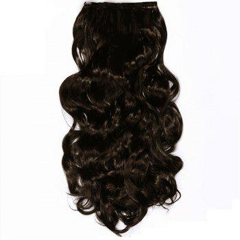 TODO 24inch Wig Curly Single Style 8-piece 18-clip Hair Extensions - MEDIUM BROWN MEDIUM BROWN