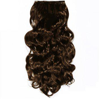 TODO 24inch Wig Curly Single Style 8-piece 18-clip Hair Extensions - LIGHT BROWN LIGHT BROWN