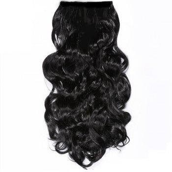 TODO 24inch Wig Curly Single Style 8-piece 18-clip Hair Extensions - BLACK COLOR 24INCH