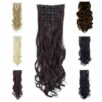 TODO 24inch Wig Curly Single Style 8-piece 18-clip Hair Extensions - 24INCH 24INCH