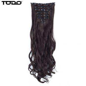 TODO 24inch Wig Curly Single Style 8-piece 18-clip Hair Extensions - DARK BROWN DIAL DARK 24INCH