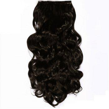 TODO 24inch Wig Curly Single Style 8-piece 18-clip Hair Extensions - BLACK BROWN BLACK BROWN