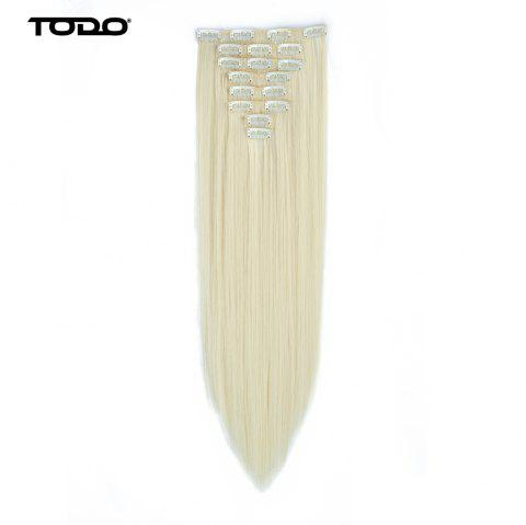 Todo Straight Wig 8-piece 18-clip Hair Extension - BLONDE 613 22INCH