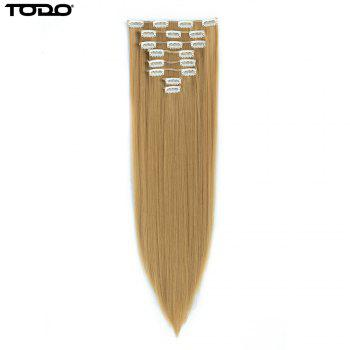 Todo Straight Wig 8-piece 18-clip Hair Extension - BLONDE MIXED 613/27# BLONDE MIXED /