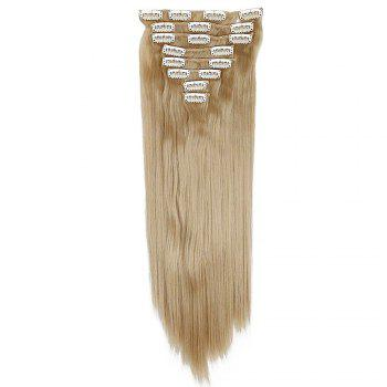 Todo Straight Wig 8-piece 18-clip Hair Extension - BLONDE MIXED / 22INCH
