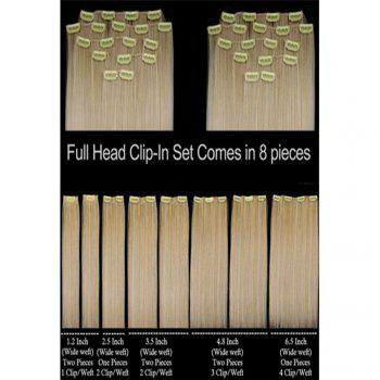 Todo Straight Wig 8-piece 18-clip Hair Extension - BLONDE 22INCH