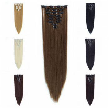 Todo Straight Wig 8-piece 18-clip Hair Extension - LIGHT BROWN 22INCH