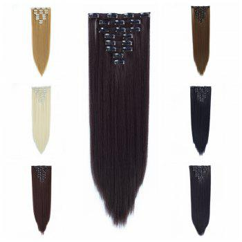 Todo Straight Wig 8-piece 18-clip Hair Extension - DARK BROWN DIAL DARK 22INCH