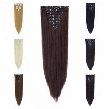 Todo Straight Wig 8-piece 18-clip Hair Extension - MEDIUM BROWN 22INCH