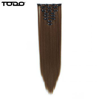 Todo Straight Wig 8-piece 18-clip Hair Extension - LIGHT BROWN LIGHT BROWN