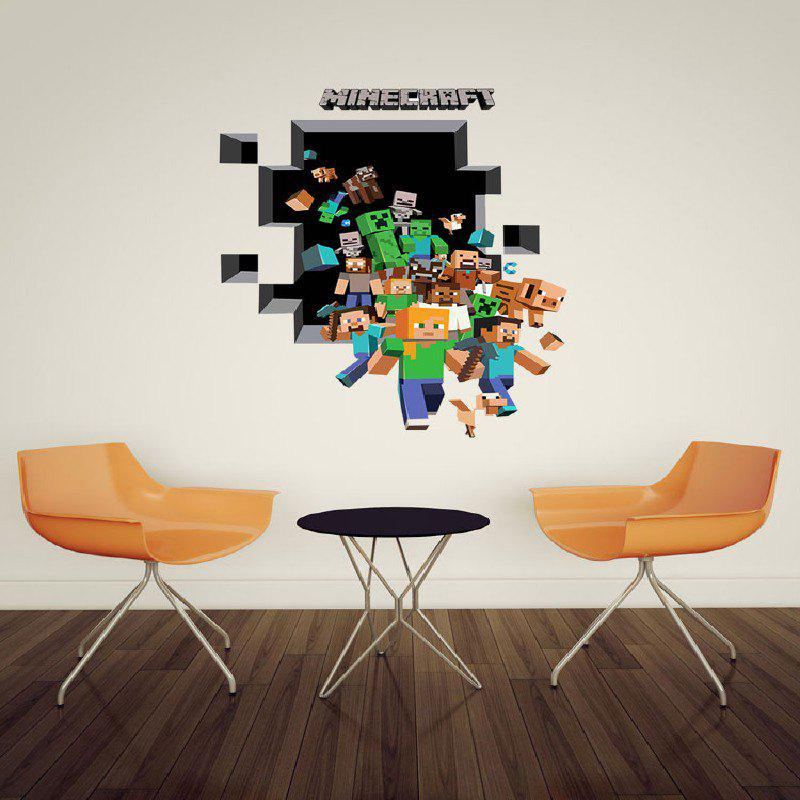 ... Game Minecraft Pattern Wall Stiker Home Decration   MIXED COLOR 50 X  70CM ... Part 36