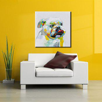 YHHP Hand Painted Abstract Dog Decoration Canvas Oil Painting