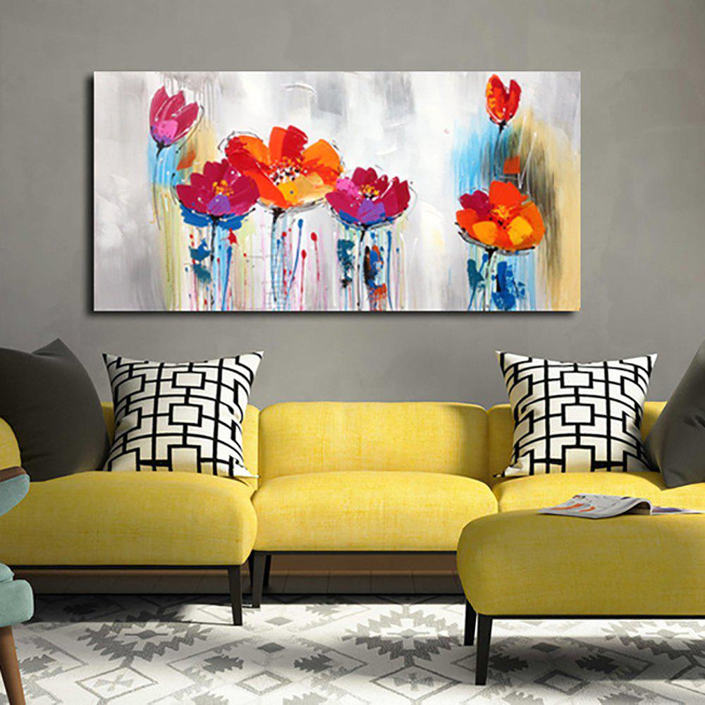 2018 YHHP Hand Painted Abstract Art Flowers Decoration Canvas Oil ...
