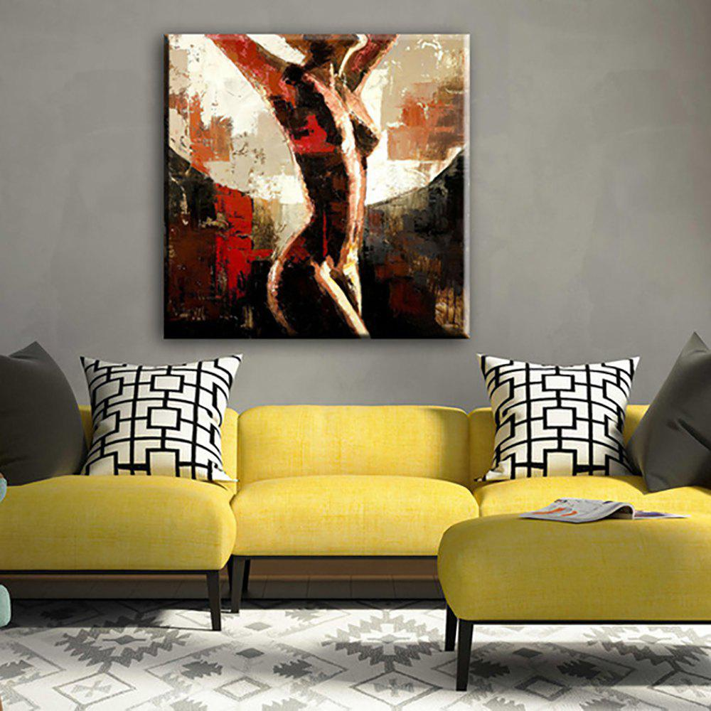 2018 YHHP Hand Painted Abstract Art Naked Women decoration Canvas ...