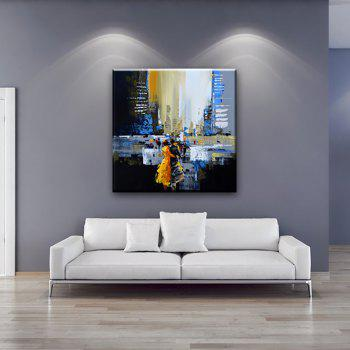 YHHP Hand Painted Abstract Art Street View Decoration Canvas Oil Painting