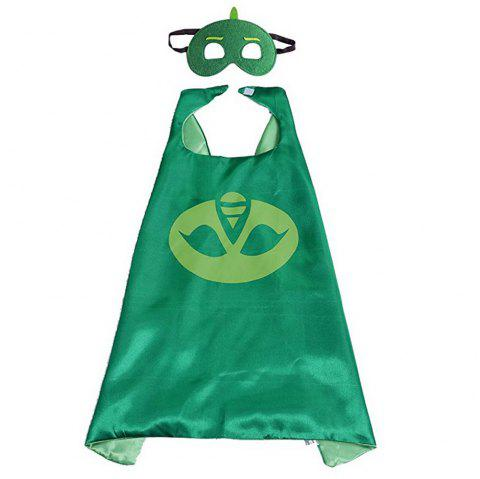 Masks Capes And Costume Sets for Kids, Dress Up Pretend Play Kids Costumes for Cosplay Party - GREEN
