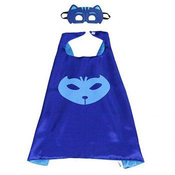Masks Capes And Costume Sets for Kids, Dress Up Pretend Play Kids Costumes for Cosplay Party - BLUE BLUE