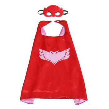 Masks Capes And Costume Sets for Kids, Dress Up Pretend Play Kids Costumes for Cosplay Party - RED RED