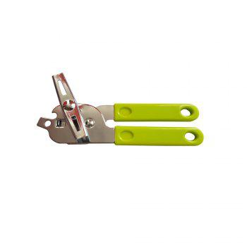 Manual Chrome Can Bottle Opener Tool - GREEN GREEN