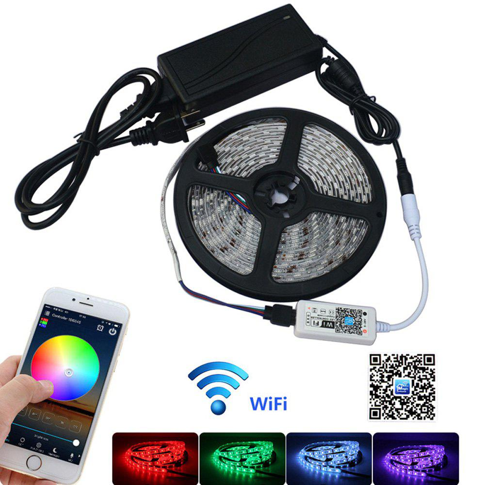 Jiawen 5M Waterproof Ip65 Smart Home Wi-Fi Rgb Led Strip Light Kit - WHITE