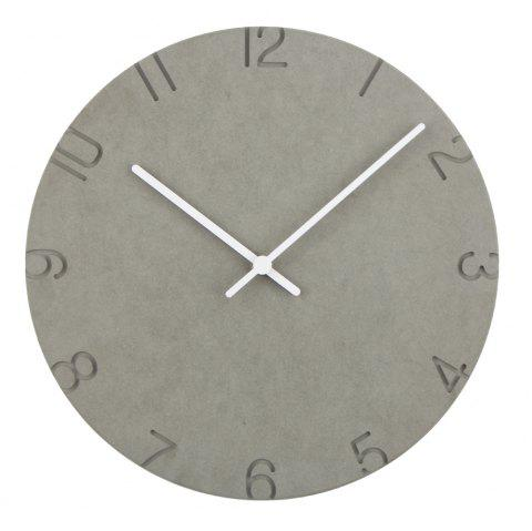 Modern Europe Style Wooden Wall Round Colorful Creative Clock - GRAY 30*30CM