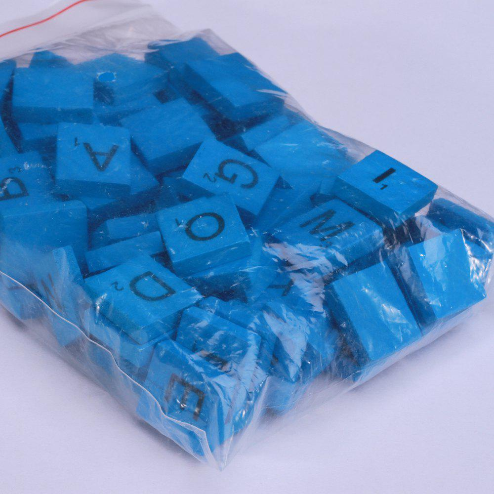 100 Pcs Uppercase Wooden Scrabble Tiles Crafts Wood Alphabets for Kids - BLUE
