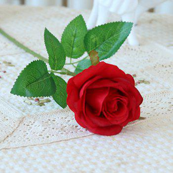10 Branch Silk Roses Wedding Party Decoration Home Decoration Artificial Flowers - RED