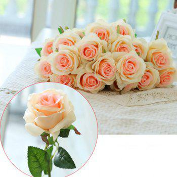 10 Branch Silk Champagne Roses Wedding Party Decoration Home Decoration Artificial Flowers - CHAMPAGNE CHAMPAGNE