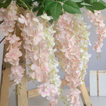 3 Heads 1 Branch Hydrangea String Wedding Site Layout Artificial Flower 140CM - PINK