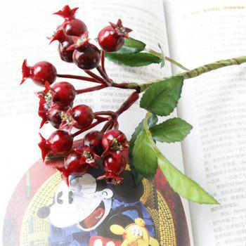 Simulation Small Pomegranate Berry Home Decoration Artificial Flower - RED RED