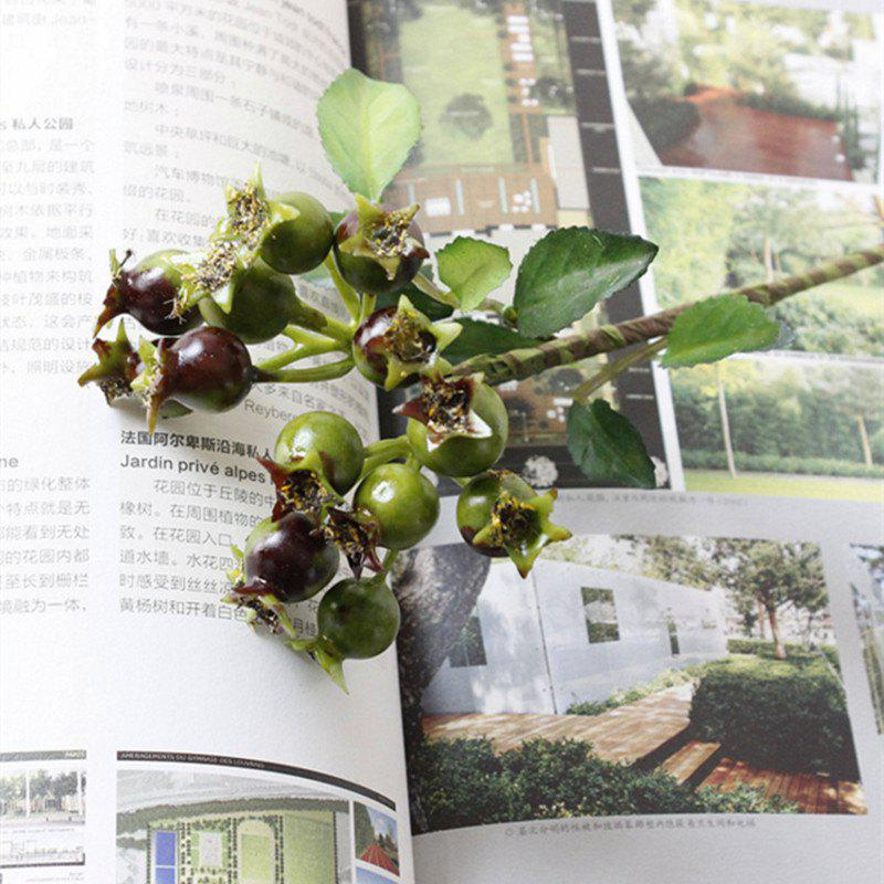 Simulation Small Pomegranate Berry Home Decoration Artificial Flower - GREEN