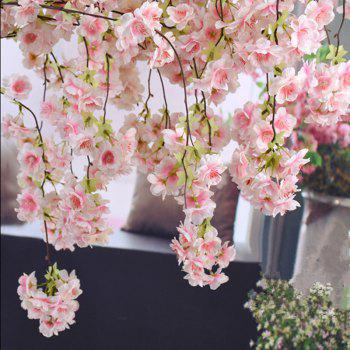 1 Branch Simulation Droop Sakura Wedding Site Layout Artificial Flower 140CM - LIGHT PINK