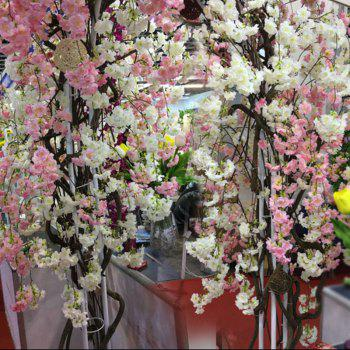 1 Branch Simulation Droop Sakura Wedding Site Layout Artificial Flower 140CM - WHITE