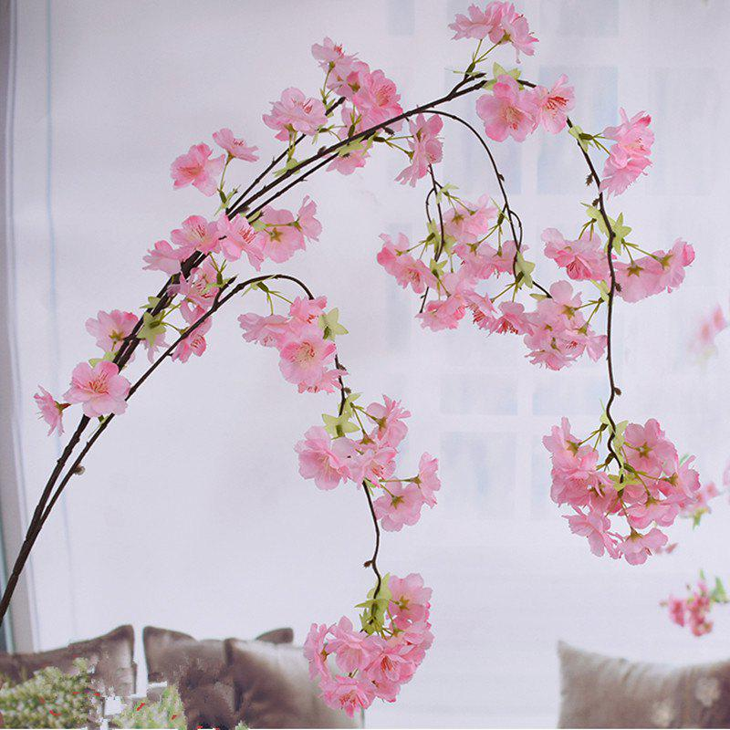 1 Branch Simulation Droop Sakura Wedding Site Layout Artificial Flower 140CM - PINK