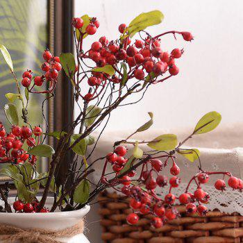 1 Branch High Simulation Red Fruit Home Decoration Artificial Flower - RED