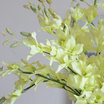 1 Branch Simulation Cattleya Wedding Decorate Home Decoration Artificial Flower -  GREEN