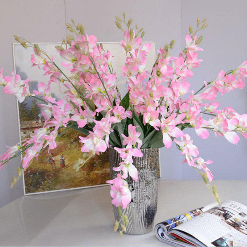 1 Branch Simulation Cattleya Wedding Decorate Home Decoration Artificial Flower - PINK