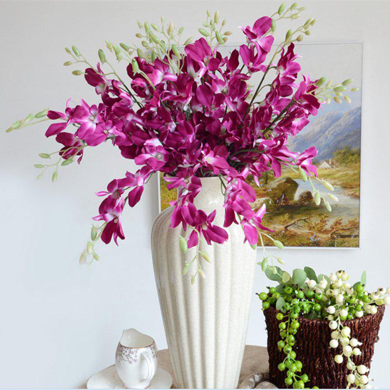 1 Branch Simulation Cattleya Wedding Decorate Home Decoration Artificial Flower - PURPLE