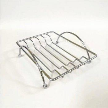 Simple Creativity Square Soap Box Storage Rack - SILVER