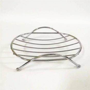 Simple Creativity Round Soap Box Storage Rack - SILVER