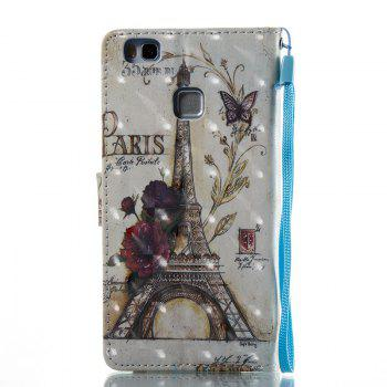 35 Towers 3D Painted Pu Phone Case for Huawei P9 Lite - COLORMIX