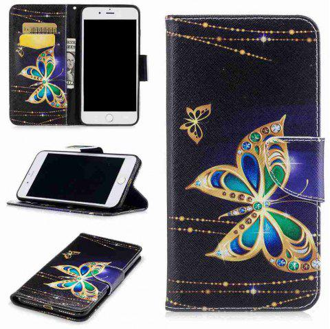 Big Butterfly Pu Phone Case pour iPhone 6 / 6S - multicolore