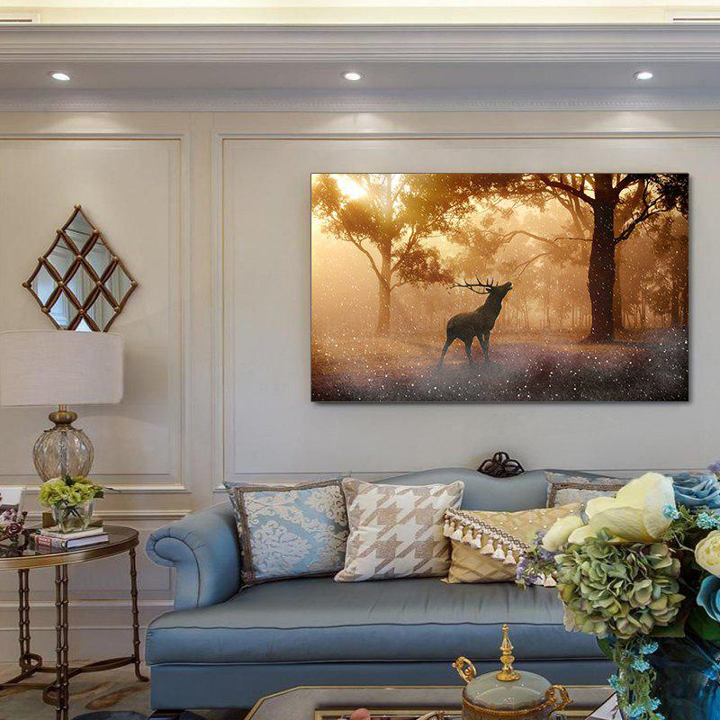 Colorful Twilight Forest Elk Continental Simple Frameless Decorative Painting 20 39inch - COLORMIX